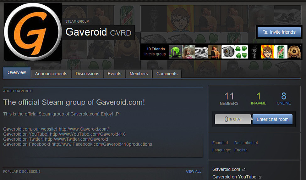 gaveroid steam group