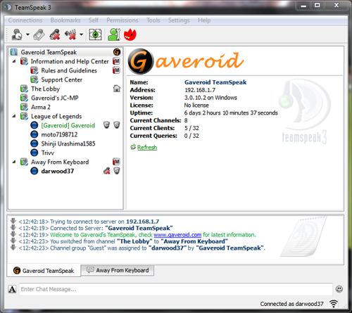Gaveroid TeamSpeak 3 Client